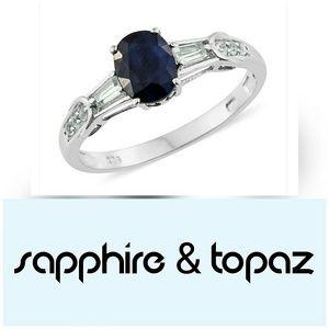 Madagascar Sapphire & Topaz Ring